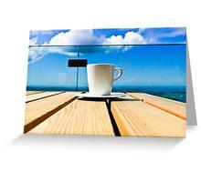 Coffee in the Sky Greeting Card