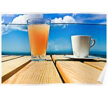 Coffee in the Sky with OJ Poster