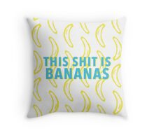 B-A-N-A-N-A-S Throw Pillow