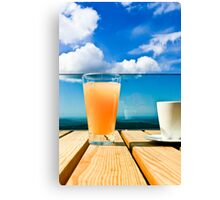 Coffee in the Sky with OJ Canvas Print