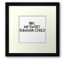 Summer Child-GOT-Black Framed Print