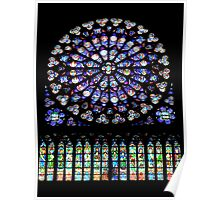 Notre-Dame Paris- South Rose window (2) Poster
