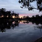 Murray River Sunset by Christopher Biggs