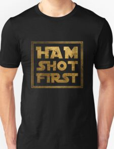 Ham Shot First - Gold T-Shirt
