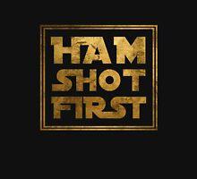 Ham Shot First - Gold Unisex T-Shirt
