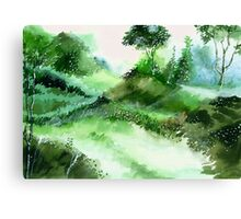 Morning Walk 1 Canvas Print