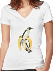 PINGUNANA Women's Fitted V-Neck T-Shirt