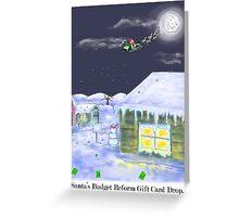 Santa's Gift Card Drop!Christmas Card! Greeting Card
