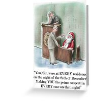 """Santas Trial"" Christmas Card! Greeting Card"