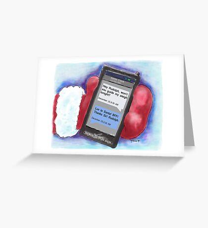 Santa's BFF Text. Christmas Card! Greeting Card
