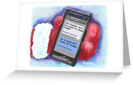 Santa's BFF Text. Christmas Card! by weirdpuckett