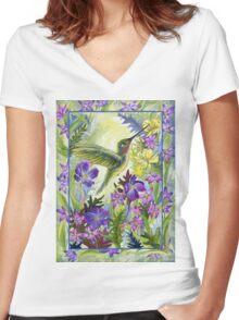 Wild Nectar Women's Fitted V-Neck T-Shirt