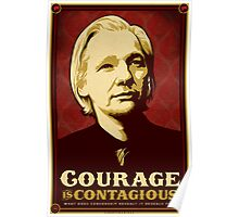 Julian Assange Courage Is Contagious Poster