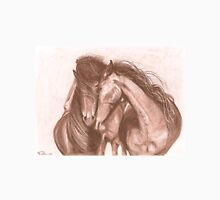 """Love"" Horses in Charcoal Unisex T-Shirt"