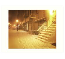 Snow - Lower East Side - New York City Art Print
