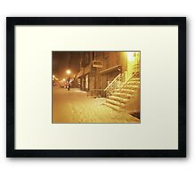 Snow - Lower East Side - New York City Framed Print
