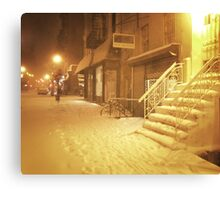 Snow - Lower East Side - New York City Canvas Print