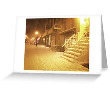Snow - Lower East Side - New York City Greeting Card