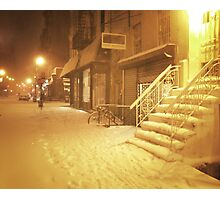 Snow - Lower East Side - New York City Photographic Print