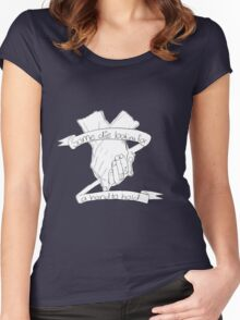 Die looking for a hand to hold Women's Fitted Scoop T-Shirt