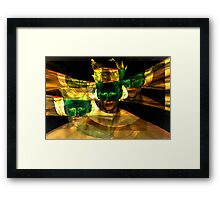 Hello Superhero Framed Print