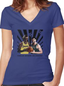 Parallel Universe NBA greatest Street Art Women's Fitted V-Neck T-Shirt