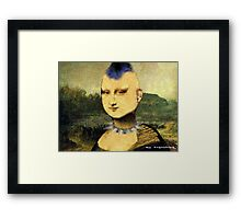 Punka Lisa Street Art Framed Print