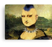 Punka Lisa Street Art Canvas Print