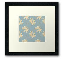 On the Breeze (Blue) Framed Print