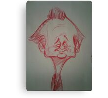 Bill Murray Caricature Canvas Print