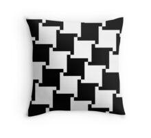 Checkered Patten - Black Throw Pillow