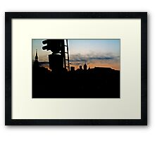 Silhouette. Toompea. Framed Print
