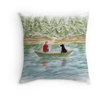 Fishing Buddies Throw Pillow