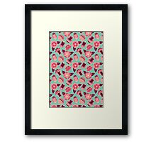 flat flowers Framed Print