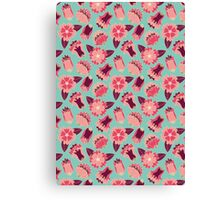 flat flowers Canvas Print