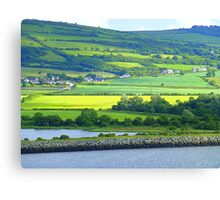 Green With A Patch Of Yellow Canvas Print