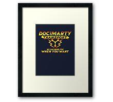 Doc & Marty Transport Framed Print