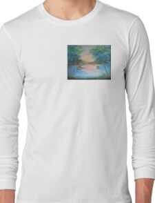 THE THIN GOLD MASK - sunset on the lake Long Sleeve T-Shirt