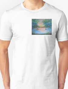 THE THIN GOLD MASK - sunset on the lake Unisex T-Shirt