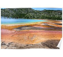 The Colours of Grand Prismatic Spring, Yellowstone NP Poster