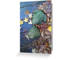 Green frogs Greeting Card