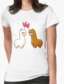 Harvest Moon Llama Womens Fitted T-Shirt