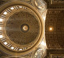 Inner dome of Saint Peters Basilica by Ian Middleton