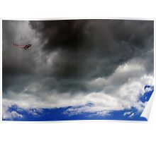 Kite and Clouds Poster