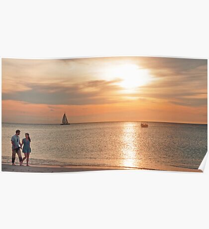 A Stroll at Sunset  Poster