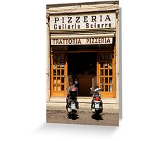 Time for a pizza Greeting Card