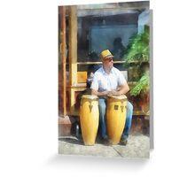 Musicians - Playing Bongo Drums Greeting Card