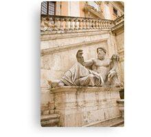 Statue outside Palazzo Senatorio Canvas Print