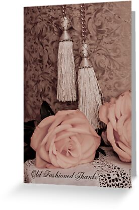 Old fashioned thanks on card. by Sandra Foster
