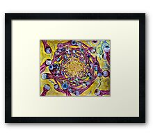 whirlpool fury of eyeball creatures with squid sort of body Framed Print